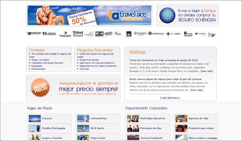 Diseño web index aseguratuviaje.com