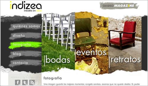 Diseño página web indizea.com.ar